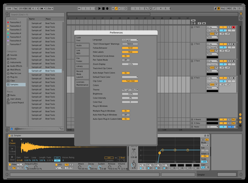 Dark Light /w Yellow Automation Lane. Theme for Ableton 10 by ds1