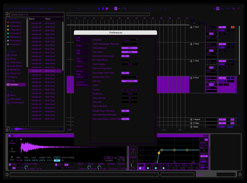 Amoled Violet Theme for Ableton 10 by xoof_7
