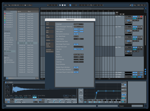 Bluish Theme for Ableton 10 by D