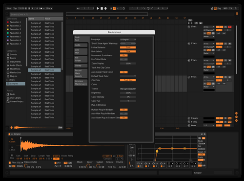 Orange is the new white Theme for Ableton 10 by skpedharrix