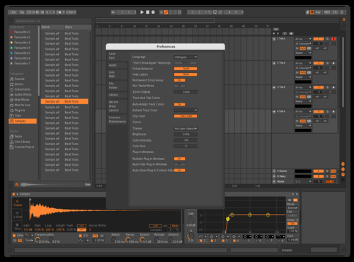 Oversampled Skin Theme for Ableton 10 by Justin Raabe