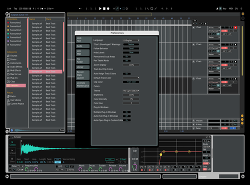 GA Dark 1.0 Theme for Ableton 10 by Geo Arceo