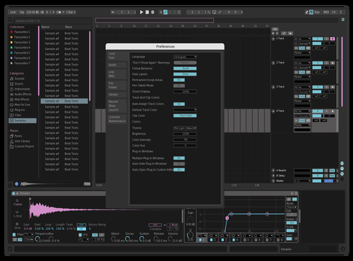 Pinkyblue Theme for Ableton 10 by skaskiboi