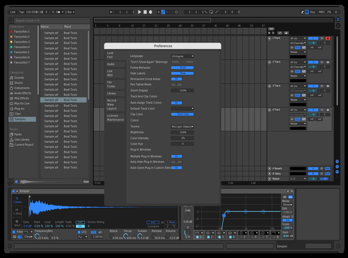 Hydro Blue Theme for Ableton 10 by Liam Holswich