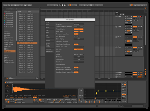 Bitwig-ish (Highlight-Colors tuned 01) Theme for Ableton 10 by DSHiN-dRA