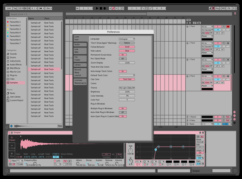 Gray Pink Theme for Ableton 10 by Alex