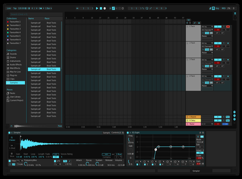 Obsession Blue Theme for Ableton 10 by Ivan