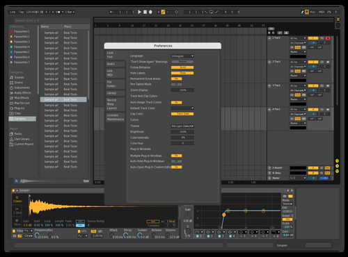 Vhfcv Theme for Ableton 10 by hive