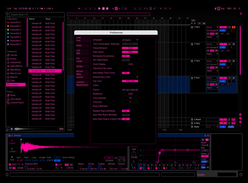 Pinky_Worthless Theme for Ableton 10 by Pinky Worthless