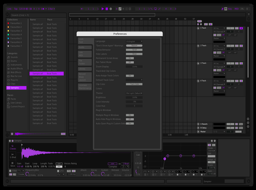 Purple Dragon Theme for Ableton 10 by Gábor Gerencsér