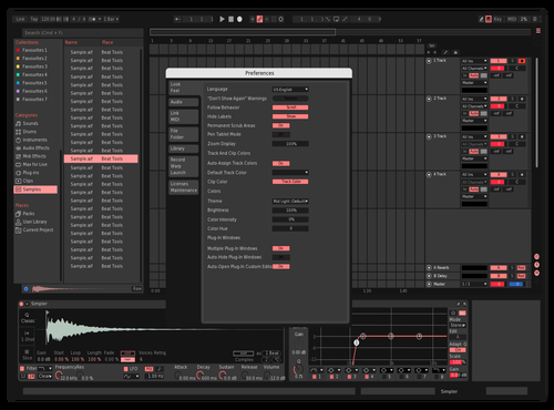 SalmonLite Theme for Ableton 10 by Caleb Mansfield
