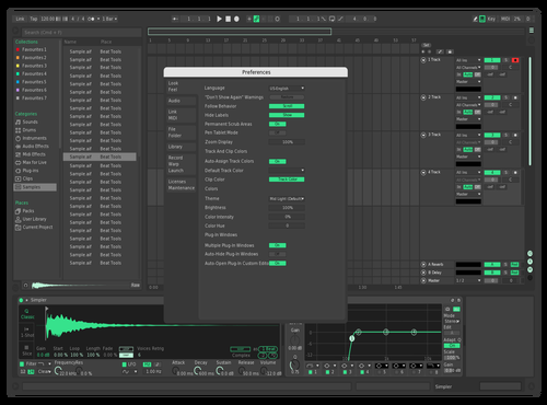 Dark Mint Theme for Ableton 10 by Matteo