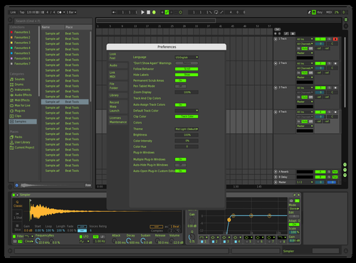 Black & Green Theme for Ableton 10 by Jeff Jefferson