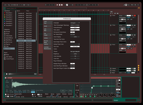 Red Theme for Ableton 10 by tricheurcmd
