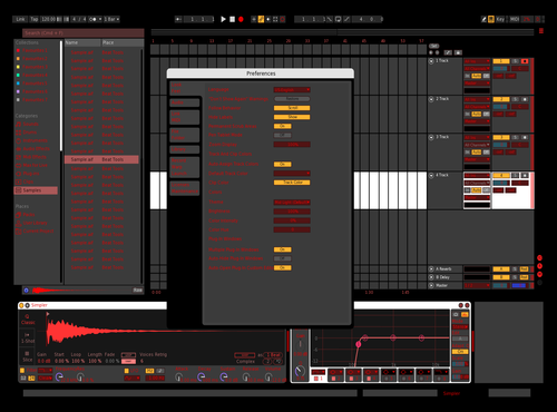Darkstuff red Theme for Ableton 10 by austin.guidone