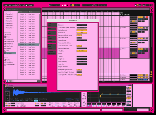 PINK Theme for Ableton 10 by Ruairi Richman