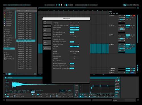 Avalon Teal Theme for Ableton 10 by rqMz