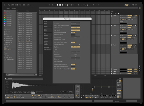 Mid dark Theme for Ableton 10 by Fellype