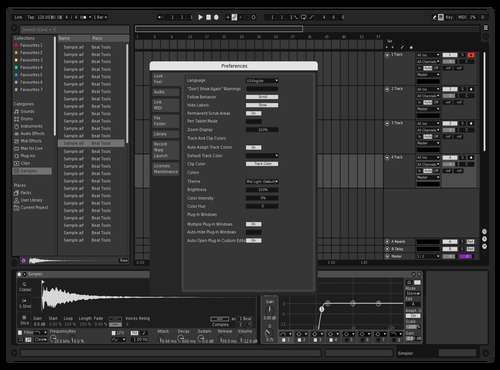 Black  & White Theme for Ableton 10 by z