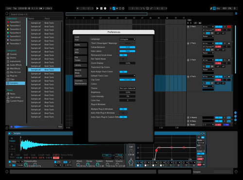 Blue 1 Theme for Ableton 10 by Gershon Milton