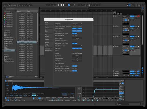 Blue Eyes Theme for Ableton 10 by Amadye