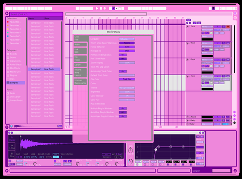 Pink unicorn Theme for Ableton 10 by Mai