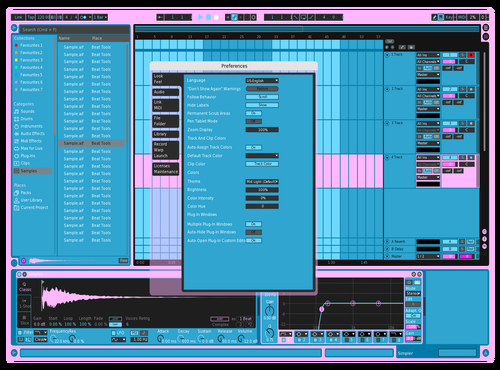 Pastel Ghost Theme for Ableton 10 by Shades of Shona