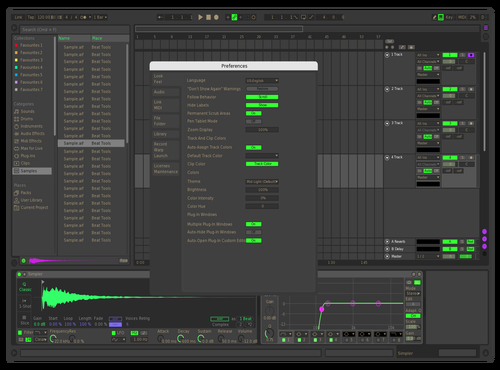 Razer V6 Theme for Ableton 10 by Luis