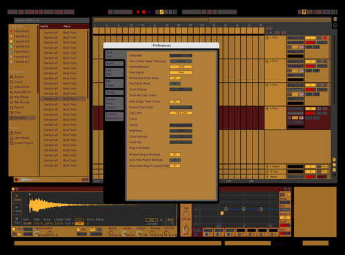 Amber on Black&Red Theme for Ableton 10 by Donald Gordon