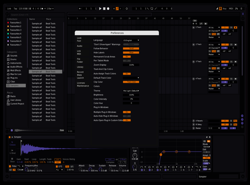 Orange Purply Theme for Ableton 10 by Reaver