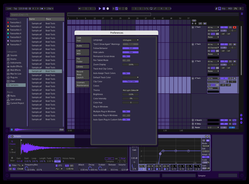 Purp Theme for Ableton 10 by nino
