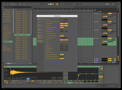 Mid light Pink and Yellow Theme for Ableton 10 by Michael Dicker