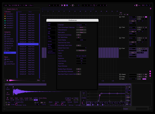 Purple Theme for Ableton 10 by YBK_Beats