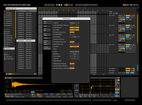 Dark Orange 2 Theme for Ableton 10 by Paul Matthew