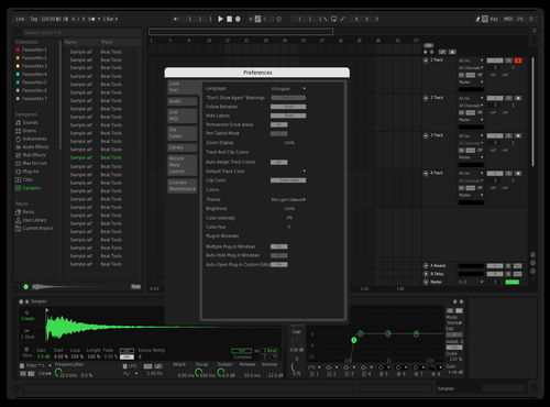 SpotifyUI Brighter Text Theme for Ableton 10 by Florian360