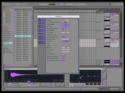 LIVE 9 LAVENDER Theme for Ableton 10 by Cedric Swan