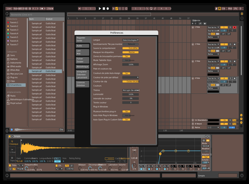 MidDark meet Brown Theme for Ableton 10 by IDGI