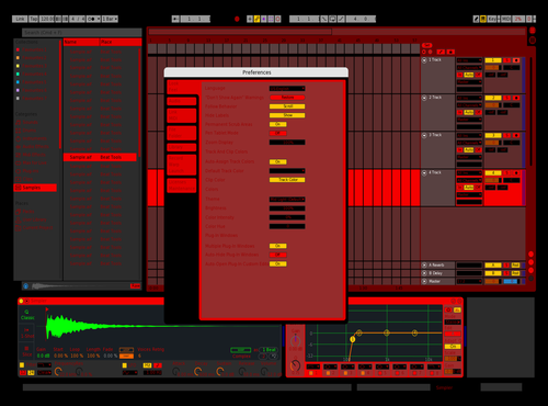 BLOOD Theme for Ableton 10 by Artur