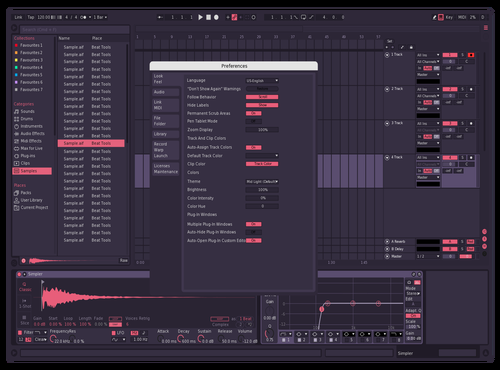 Lighter lines Theme for Ableton 10 by Celgost