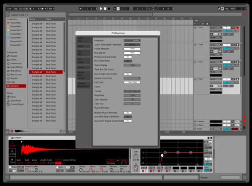 Leocel RED INTENTION Theme for Ableton 10 by Leocel