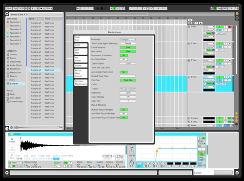 Test Theme for Ableton 10 by Gustave