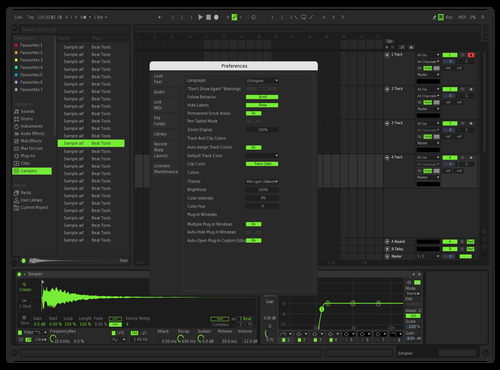 CFA Lime Green Theme for Ableton 10 by Cyforce