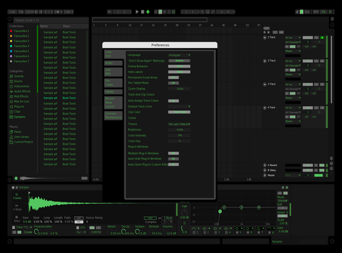 GREEN DARKNESS Theme for Ableton 10 by Matt Van Arkel