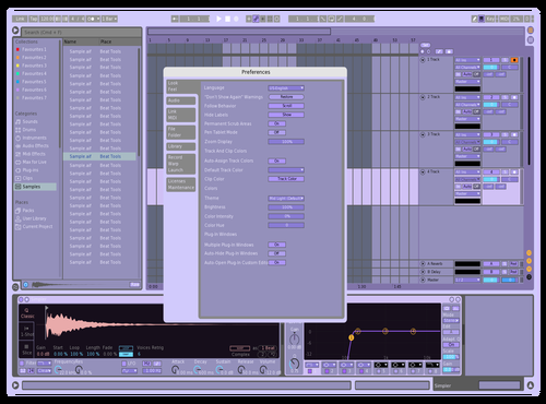 Purple Theme for Ableton 10 by knotset
