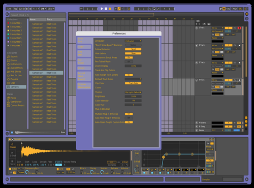 Royal Violet Theme for Ableton 10 by bunt