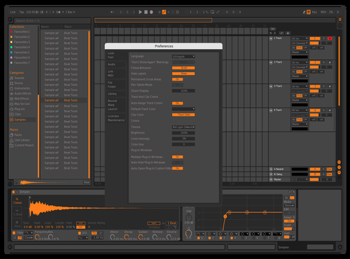 Grey & orange Theme for Ableton 10 by Leo
