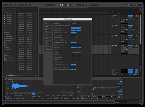 Bright Dark Blue Theme for Ableton 10 by Hamza Bhh
