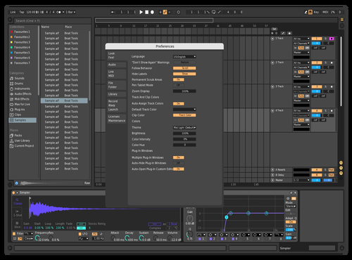 First Theme Theme for Ableton 10 by Ilya