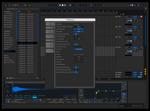 Dark Blue Theme for Ableton 10 by Ableton Art Biennale