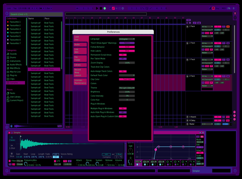 Mycyber1 Theme for Ableton 10 by Jared Maly